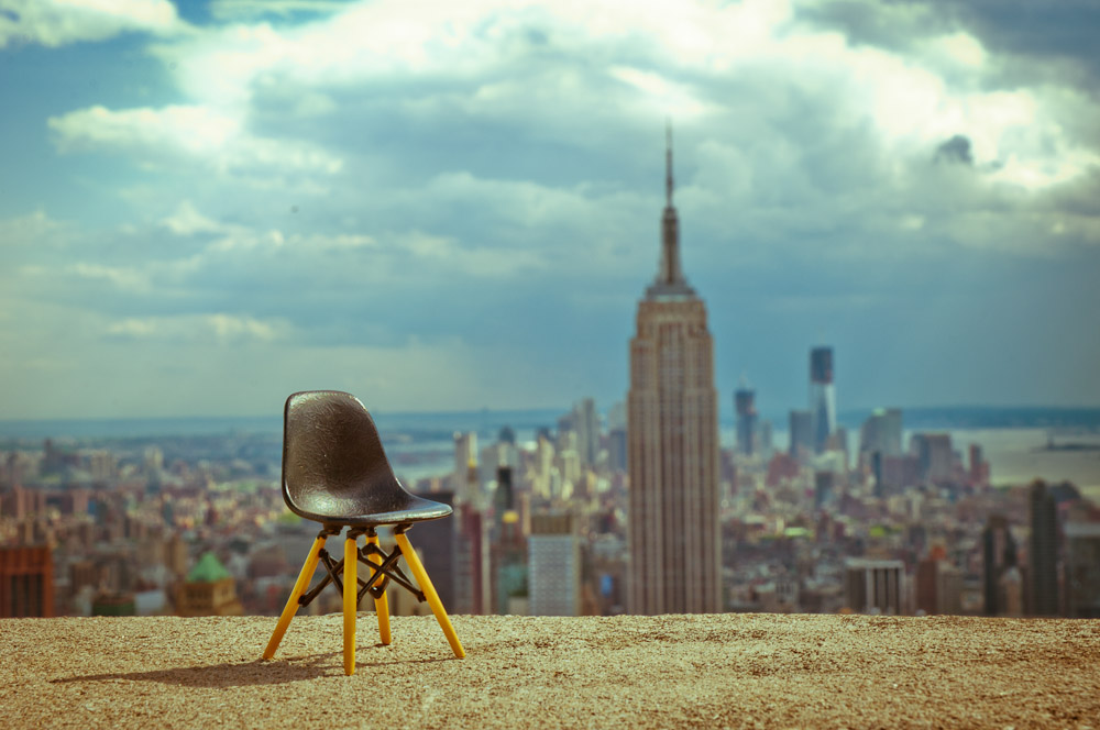Miniature Eames Dsw And The Empire State Building New